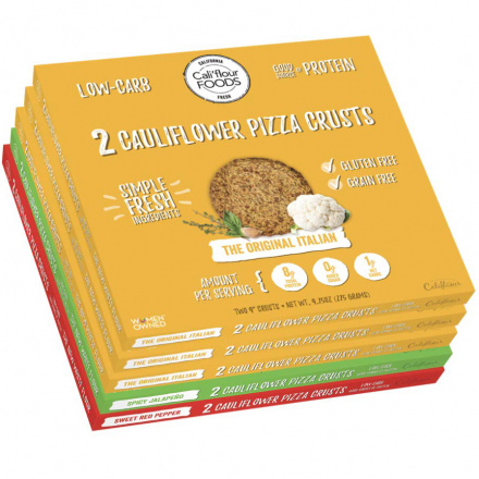 Front of Cali'flour Foods Low Carb Variety Bundle, 10 Crusts
