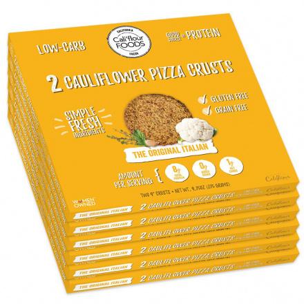 Front of Cali'flour Foods Original Italian Bundle, 12 Crusts