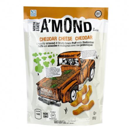 A'mond Snacks Almond & Multigrain Puffs with Probiotics Cheddar Cheese, 85g