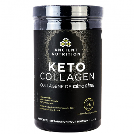 Ancient Nutrition Keto Collagen Peptides With MCT, 324g