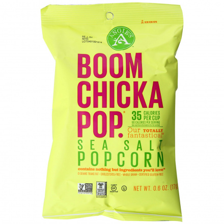 Angie's BOOMCHICKAPOP Sea Salt Popcorn, 136g