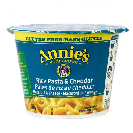 Annie's Homegrown Gluten-Free Rice Pasta & Cheddar Mac & Cheese Cup, 57g