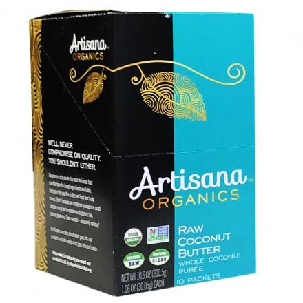 Artisana Organic Raw Vegan Coconut Butter, 10 Packets