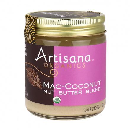 Front of Artisana Organics Mac-Coconut Nut Butter Blend, 227g