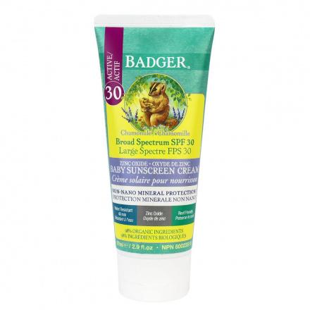 Badger Broad Spectrum Organic Sunscreen SPF 30 Chamomile, 87ml