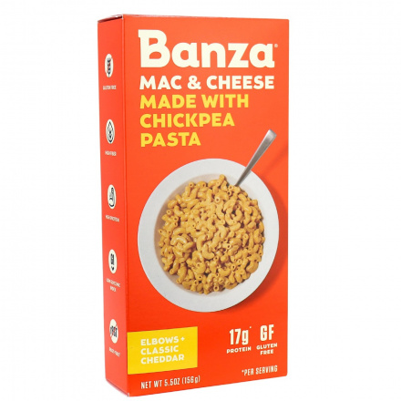 Banza Chickpea Pasta Elbows + Classic Cheddar Mac & Cheese, 156g