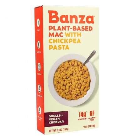 Banza Plant-Based Chickpea Pasta Mac & Vegan Cheese, 156g
