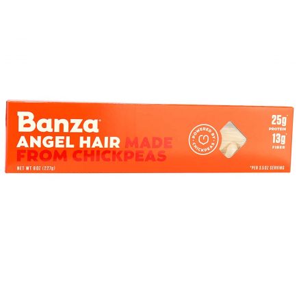 Front of Banza Angel Hair Chickpea Pasta, 227g