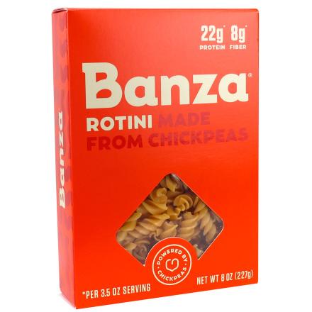 Front of Banza Chickpea Pasta Rotini, 227g