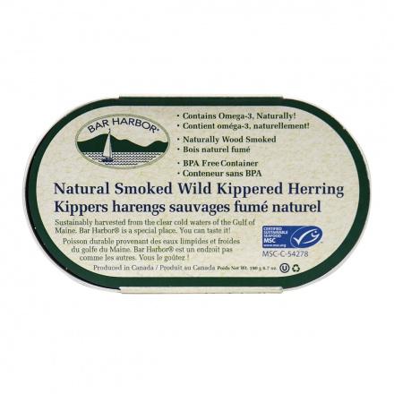 Bar Harbor Natural Smoked Wild Kippered Herring, 190g