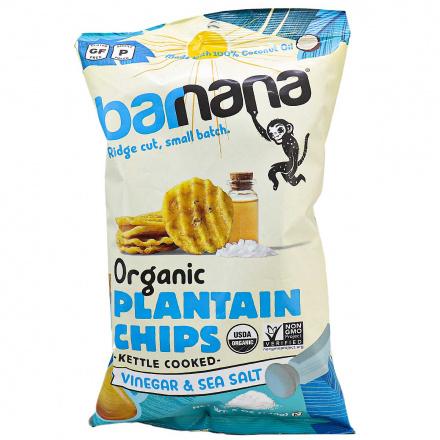 Barnana Organic Ridged Grain-Free Plantain Chips Vinegar & Sea Salt, 140g