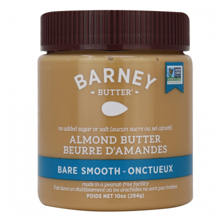 Front of Barney Butter Bare Smooth Almond Butter, 284g