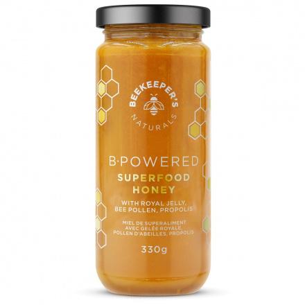Beekeeper's Naturals B.Powered Superfood Honey, 330g Front