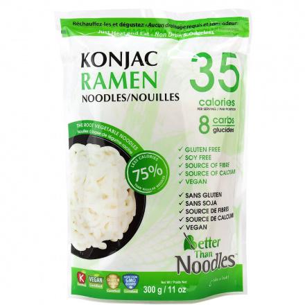 Front of Better Than Foods Non Drain & Odorless Konjac Ramen Noodles, 300g