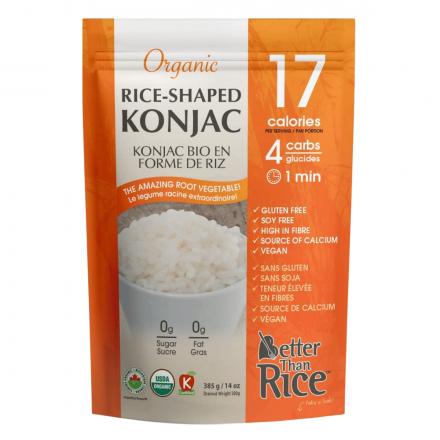 Better Than Foods Organic Konjac Rice, 385g