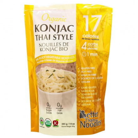 Better Than Foods Organic Konjac Thai Style Noodles, 385g