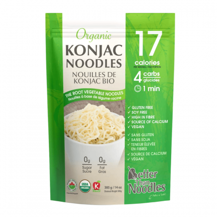 Front of Better Than Foods Organic Konjac Noodles, 385g