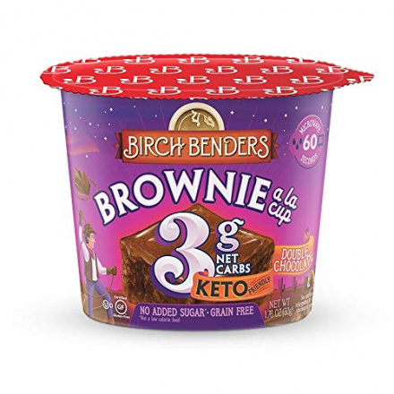 Birch Benders Grain-Free Keto Brownie a la Cup Double Chocolate, 50g