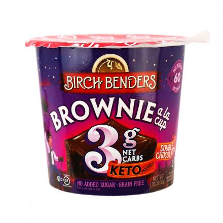Birch Benders Grain-Free Keto Brownie a la Cup Double Chocolate, 50g
