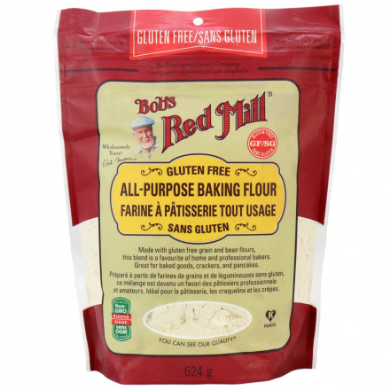 Front of Bob's Red Mill Gluten Free All Purpose Baking Flour, 624g