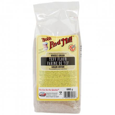 Front of Bob's Red Mill Teff Flour, 680g