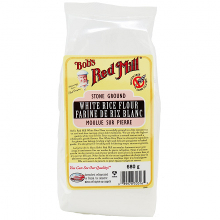 Front of Bob's Red Mill Gluten Free White Rice Flour, 680g