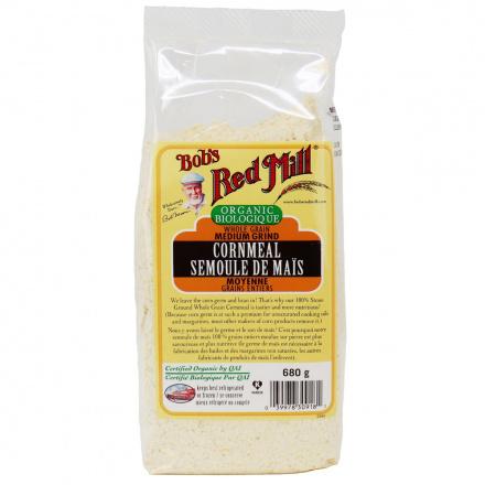 Bob's Red Mill Organic Medium Grind Cornmeal, 680g