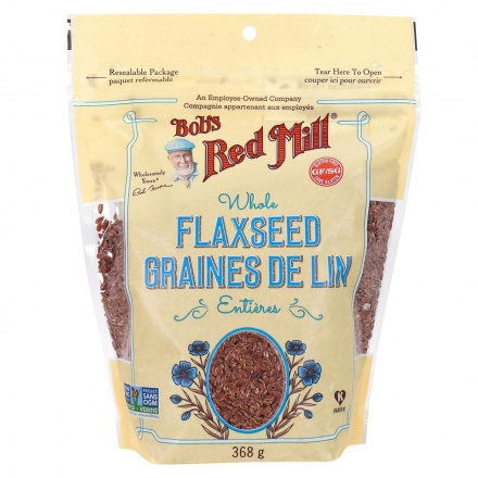 Front of Bob's Red Mill Whole Flaxseed, 368g