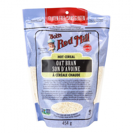 Front of Bob's Red Mill Gluten Free Oat Bran Cereal, 454g