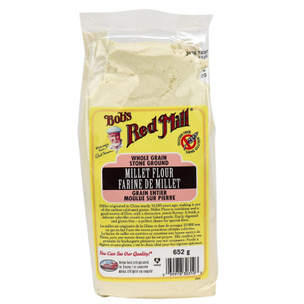 Front of Bob's Red Mill Stone Ground Millet Flour, 652g