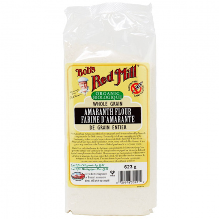 Front of Bob's Red Mill Gluten Free Organic Amaranth Flour, 623g