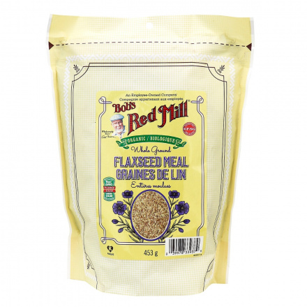 Bob's Red Mill Organic Gluten Free Whole Ground Flaxseed Meal, 453g