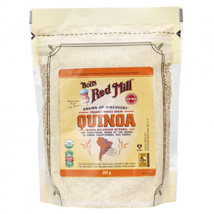 Bob's Red Mill Organic Quinoa White Whole Grain, 369g