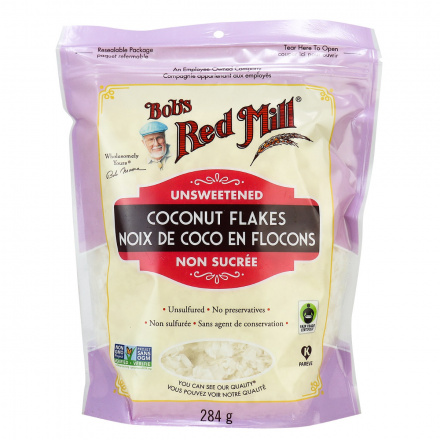 Bob's Red Mill Unsweetened Coconut Flakes Unsulfured, 284g