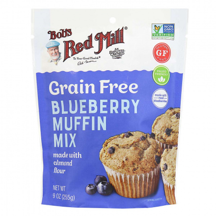 Front of Bob's Red Mill Grain-Free Blueberry Muffin Mix, 255g