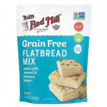 Front of Bob's Red Mill Grain Free Flatbread Mix, 200g