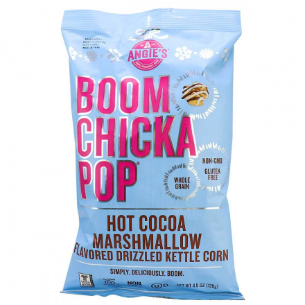 Angie's Boom Chicka Pop Hot Cocoa Marshmallow Drizzled Kettlecorn Mix, 128g