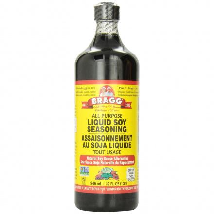 Bragg Liquid Soy Seasoning with Aminos, 946 ml