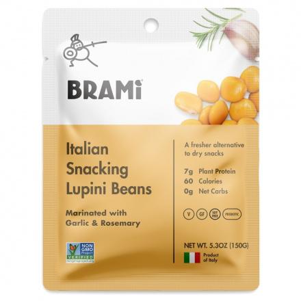 Brami Italian Snacking Lupini Beans Garlic & Rosemary, 150g