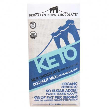 Front of Brooklyn Born Vegan Keto Milk Chocolate at Natura Market