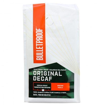 Front of Bulletproof The Original Ground Decaf Coffee, 340g