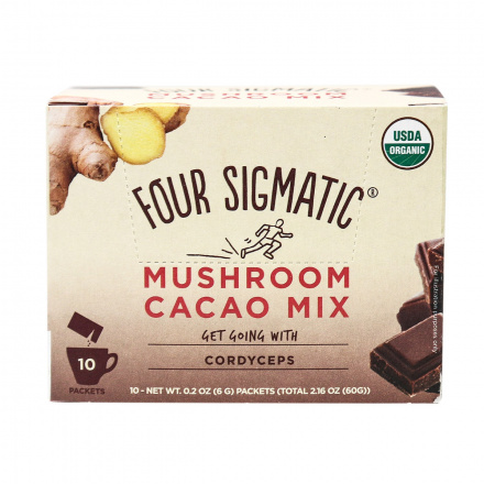 Four Sigmatic Mushroom Cacao Mix Get Going with Cordyceps, 10 bags