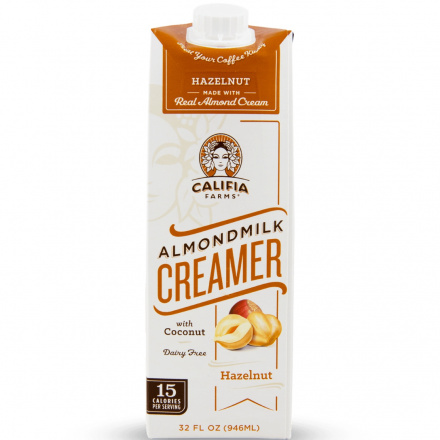 Califia Farms Almond Milk Creamer Hazelnut, 946ml
