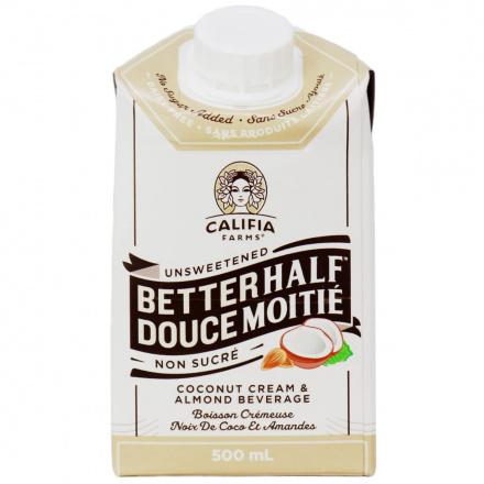 Califia Farms Coconut Cream & Almond Milk Better Half Unsweetened, 500ml
