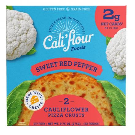 Cali'flour Foods Cauliflower Pizza Crust - Sweet Red Pepper, 2 Crusts