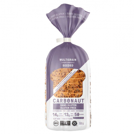 Front of Carbonaut Keto Gluten-Free Seeded Bread, 550g