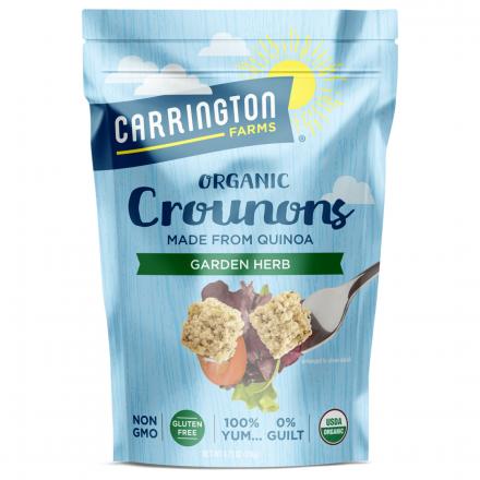 Front of Carrington Farms Organic Gluten-Free Crounons Garlic Herb, 134g