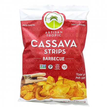 Artisan Tropic Cassava Strips Barbecue, 128g