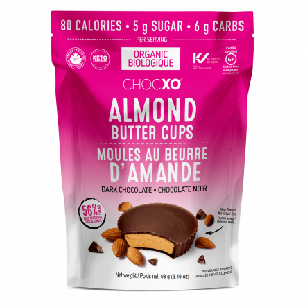 ChocXO Almond Butter Cups Dark Chocolate, 98g