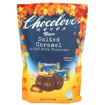 Chocolove Bites Salted Caramel in 55% Dark Chocolate, 20 Wrapped Bites